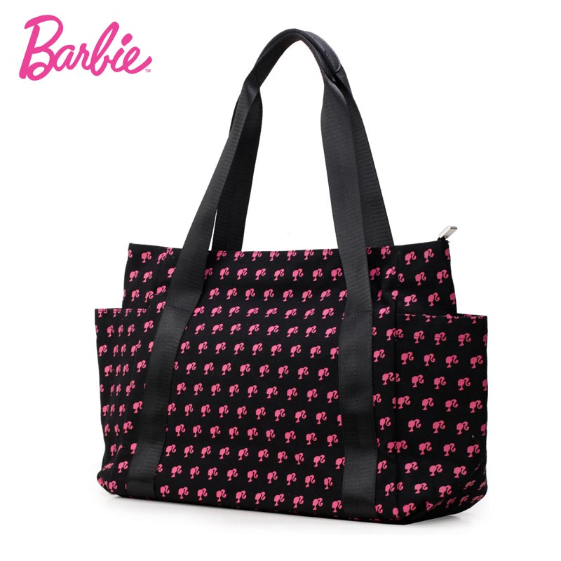 Barbie fashion Women Shoulder Bags big handbags for mama black blue color patchwork women Female Bag Individuality