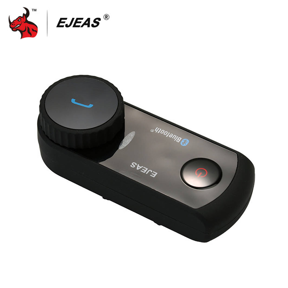 EJEAS Motorcycle Intercom Helmet Headset Bluetooth Helmet Headset Comunicador Moto Interphone Wireless Bluetooth For 4 Riders new ejeas e200 300m motorcycle bluetooth helmet intercom for 2 riders bt wireless intercomunicador interphone headset