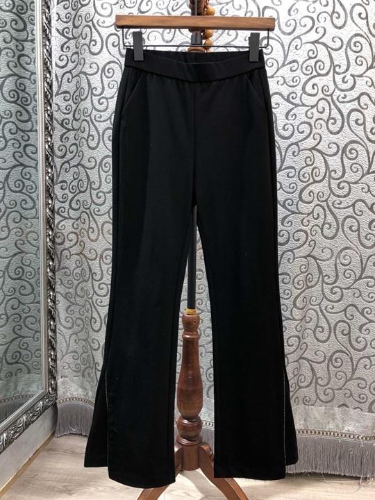 Verano Pantalones Ocio Con Primavera Bolsillo Y Nueva Amplia Mujer 0320 Piernas Simétrica Negro Microbell 2019 De Inclinado Las Tiempo 4w5agaq