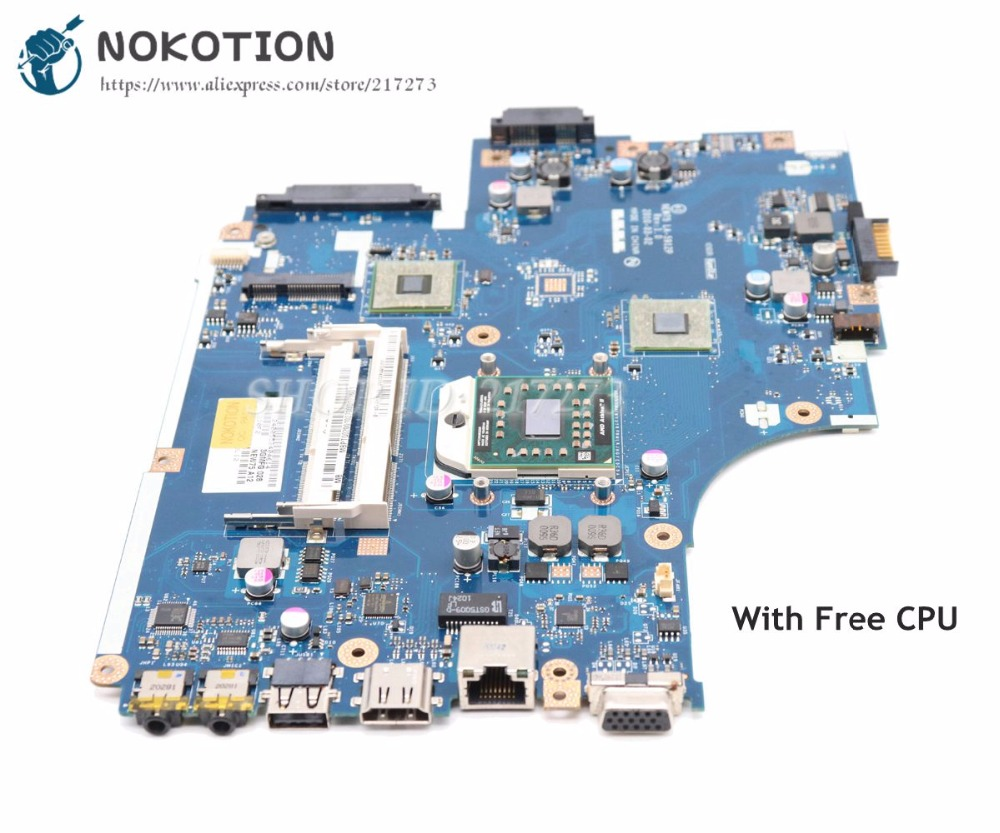 NOKOTION NEW75 LA-5912P MBNA102001 Laptop Motherboard For Acer Aspire 5551 For Emachines E640 DDR3 HD4200 Free Cpu