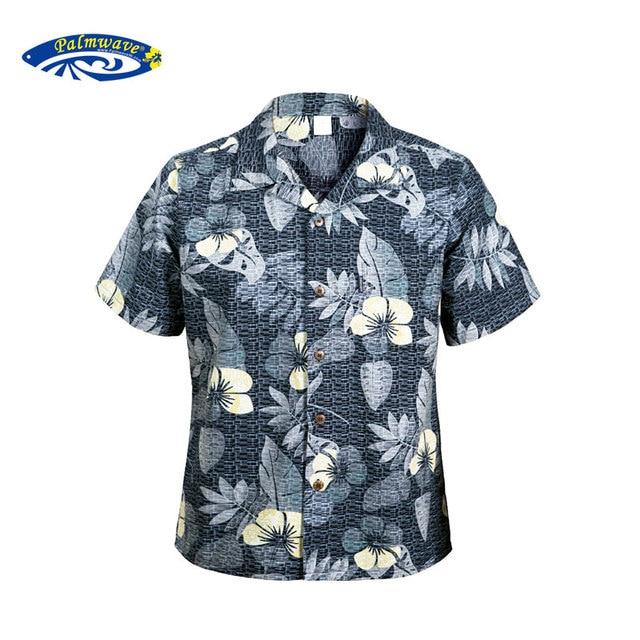 0fd591316e8 2016 Hawaii Shirts Men s Casual Short Sleeve Printed Home Shirt Plus size  Mens Cotton Hawaiian Shirt