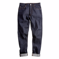 Top Mens Raw Denim jeans Top 14Oz Selvedge Slim Straight Elasticity Feet Jeans Safari Style Long Straight Trousers casual jeans