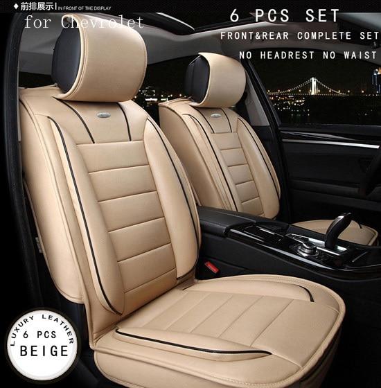 Para chevrolet cruze malibu captiva chevrolet marrom marca de luxo designer couro pu parte dianteira & parte traseira completa tampas de assento do carro de quatro temporada