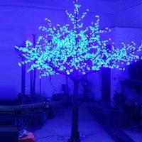 2.5 Mètres 1728 led de noël artificiel 3 changement de Couleur led cherry blossom arbre lumière pour noël en plein air jardin décoration