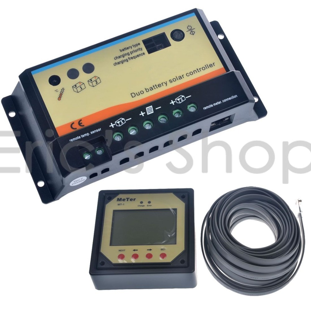 Solar Battery Meter : A duo battery solar panel charge controller regulator
