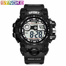 SYNOKE 2019 New Arrival Luxury Sports Men's Watch G Digital Shock Military Army Sport LED Waterproof Wrist Watches Mens(China)