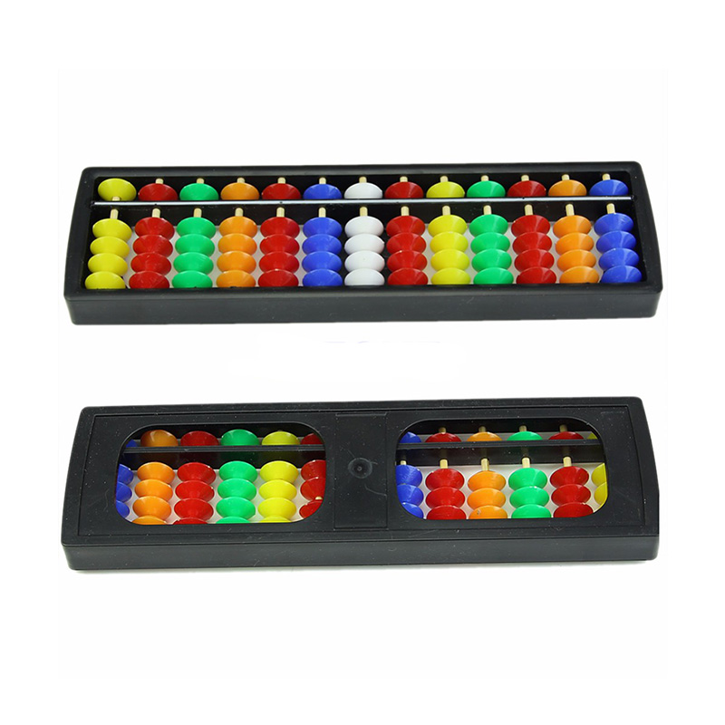 Hot Sale Arithmetic Soroban Colorful Beads Mathematics Calculate Chinese Abacus Early Educational For Children Stucent Toys