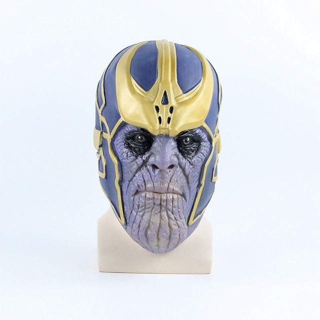 Thanos Mask Infinity Gauntlet Avengers Infinity War Cosplay Gloves Helmet Thanos Masks Halloween Party Props DropShipping