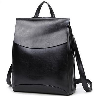 PASTE GENUINE LEATHER Fashion Women Backpack Girl Student School Bag Double-Shoulder Bag Women Casual Back Packs Travel T043