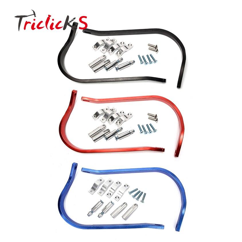 Triclick Pair CNC Aluminum Handguard 7/8 Handlebar Handguards Protector Hand Guard For Kawasaki Suzuki Yamaha KTM Honda Harley