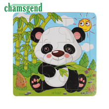 CHAMSGEND Modern Wooden Panda Jigsaw Toys For Kids Education Learning Toy Kids Animals Puzzle Wooden Toys H22