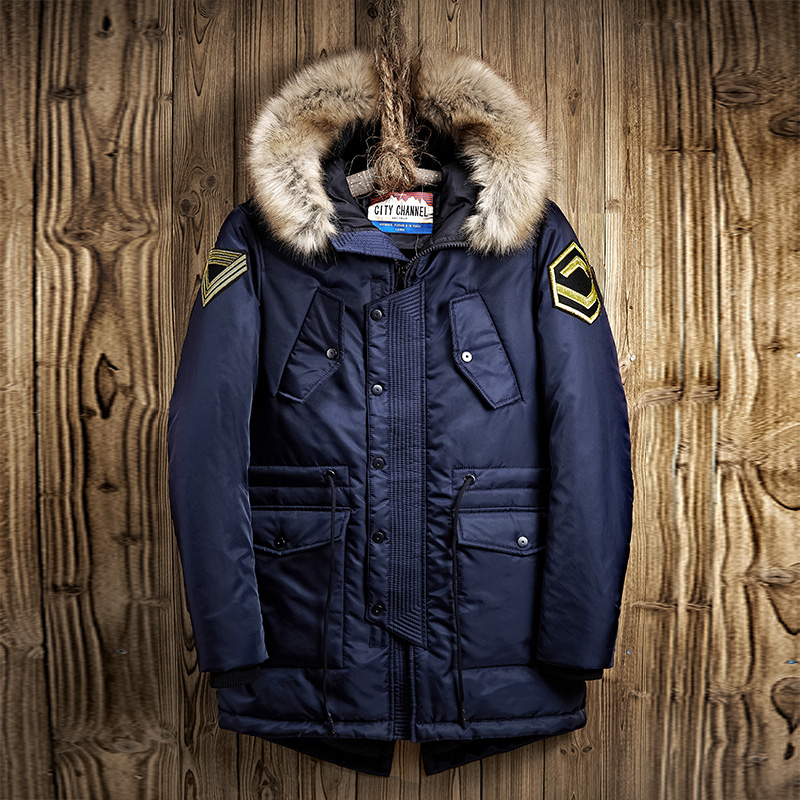 2017 Fashion Casual Outdoors Windproof Outerwear Male Parkas Jackets Winter Jacket Men Long Hooded Fur Collar Thick Warm Coat 2016 new men thick warm parkas outerwear fashion stand collar zipper casual down jacket male plaid patchwork winter coat a4583