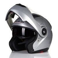 JIEKAI 115 Motorcycle Helmets Double Visors Modular Flip Up Helmet DOT Approved Full Face Casque Moto