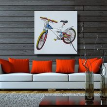 Paint Kit Oil Painting Bike Trip Hand Painted Modern oil painting on canvas wall art picture for room decoration No frame(China)