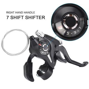 3 7 8 prędkość rowerowa Shifter Thumb Shifter dźwignia hamulca MTB Riding dźwignie hamulcowe akcesoria rowerowe tanie i dobre opinie Conjoined dip Derailleurs Przerzutki 21 prędkości C2900 Stop
