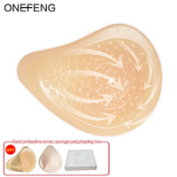 ONEFENG KVS Breathable Massage Point Spiral Shape Breast Cancer Silicone Breast Form Prosthesis for Mastectomy Women