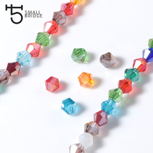 4 6mm Austrian Bicone Crystal Beads for Jewelry Making Bracelets Diy Accessories Supplies Mix Color Spacer Glass Beads Wholesale