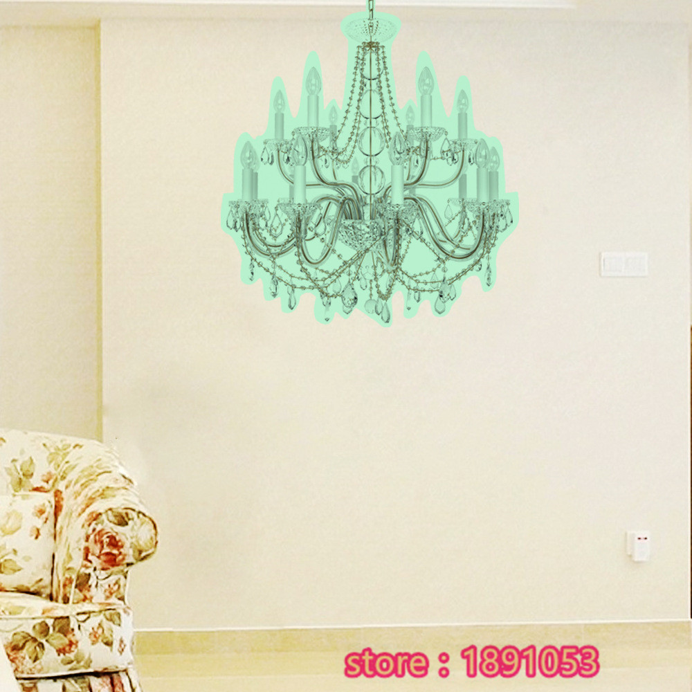 40x44cm3d fluorescence emission luminous chandeliers wall stickers 40x44cm3d fluorescence emission luminous chandeliers wall stickers living room bedroom children s room sofa tv wall stickers in wall stickers from home