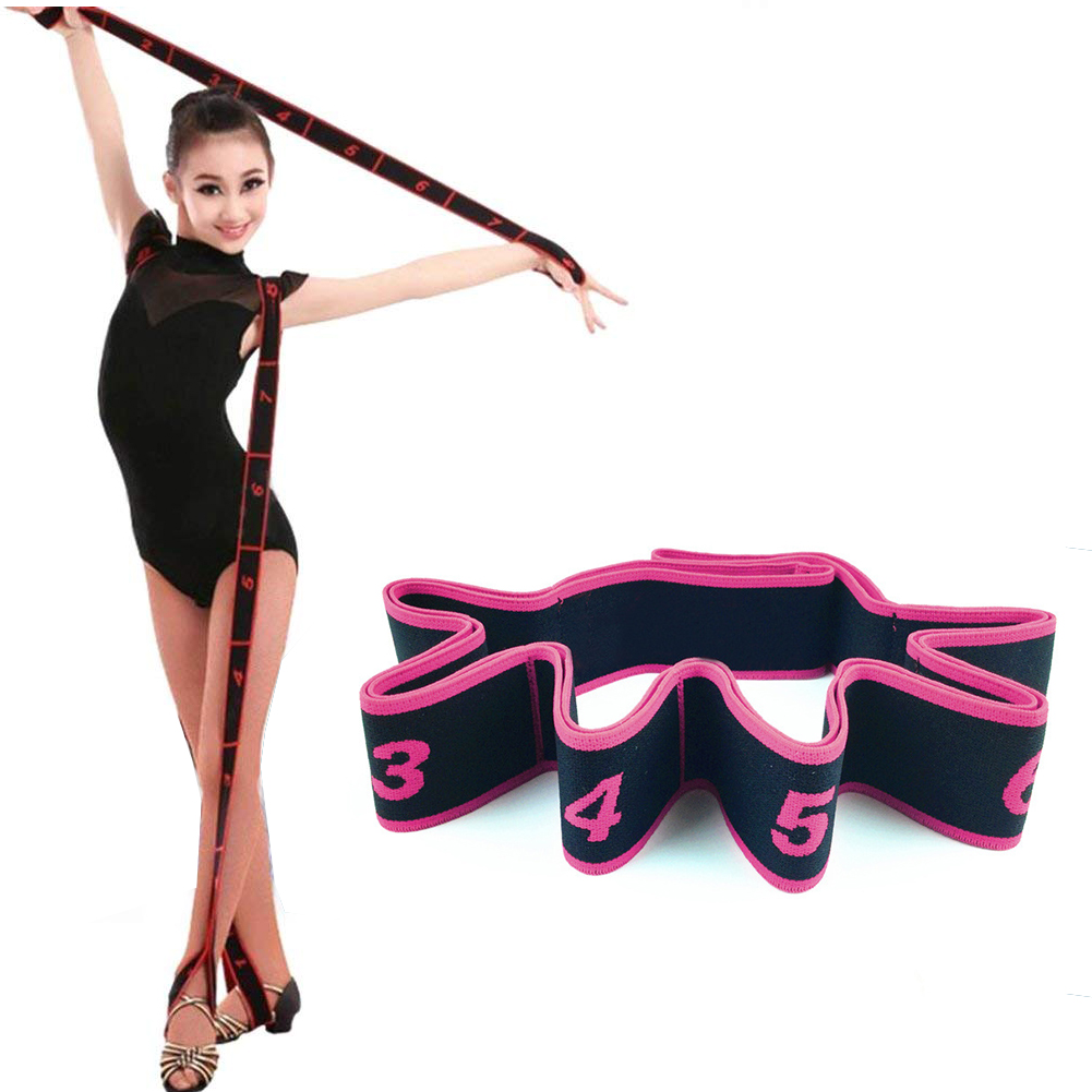 New Gymnastics Adult Latin Training Bands Pilates Yoga Stretch Hamstring Stretcher Strap Fitness Resistance Bands image