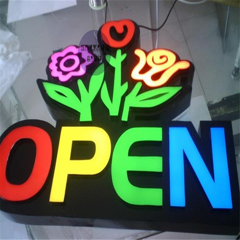 Factory Outlet Alibaba Express Hot Outdoor Acrylic LED Illuminated Name Sign