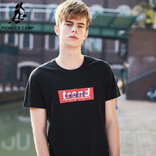 Pioneer Camp Summer 2019 Cotton Top Tee Mens Casual Short Sleeve T-Shirt O-neck High Quality T shirt Male ADT902004