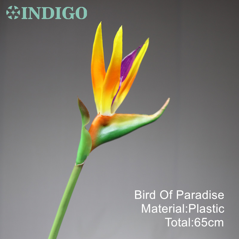 INDIGO 5pcs Sunset Bird Of Paradise Orchid Bouquet Real Touch Wedding Flower Artificial Flower Floral Event Party Free Shipping in Artificial Dried Flowers from Home Garden
