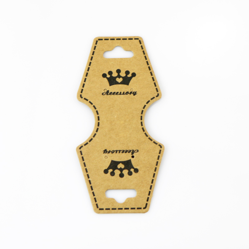 200 pieces Paper Display Card, Brown, Used For Necklace, Bracelet and Mobile Pendant, About 9.6cm long, 4.5cm wide Customize