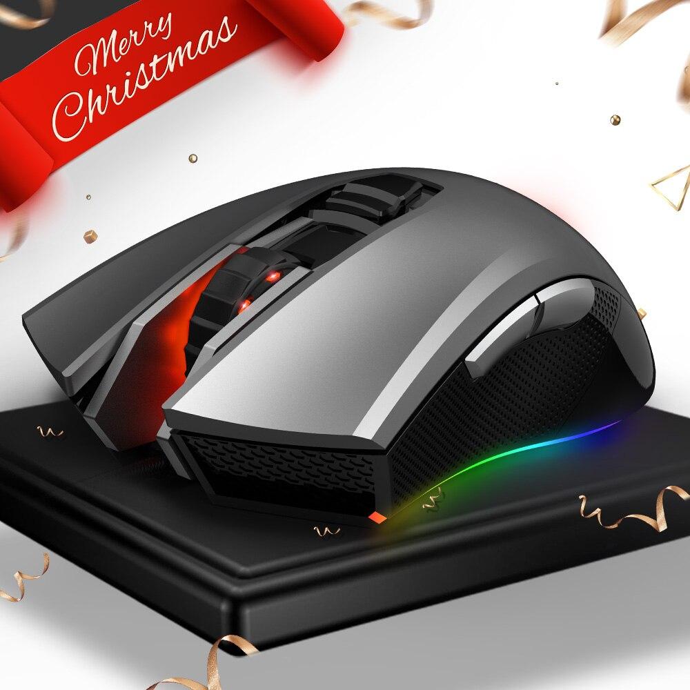 HEXGEARS M33 de juego profesional ratón con cable RGB retroiluminado 5000 dpi Gamer ratón ratones 6 botón Mause Muis USB ratón de la computadora ordenador portátil