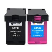 2Pcs Ink Cartridge For HP 301 301xl Ink Cartridge HP301 For HP Deskjet 1000 1050 2000