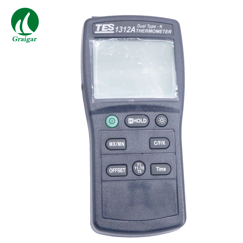 TES-1312A Digital Dual Type-K Thermometer Dual Channel Thermometer