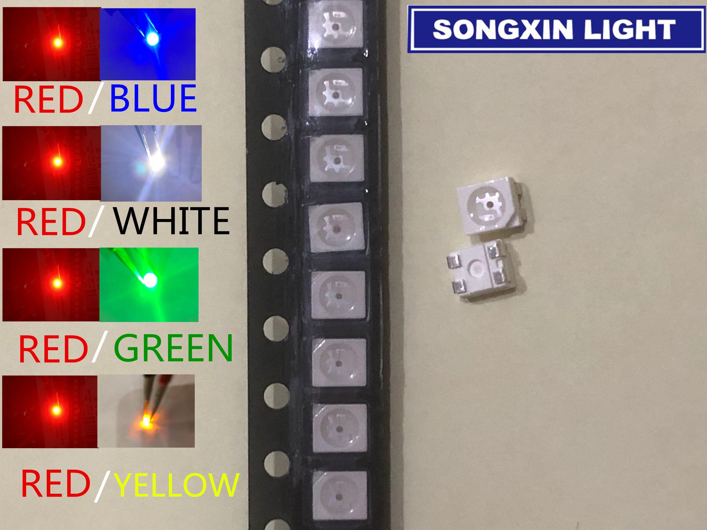 10 x LED PLCC2 1210 3528 Cool Clear White SMD LEDs Super Ultra Bright PLCC-2