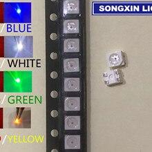 20 шт. 3528 SMD светодиодный двухцветный красно-синий красный/желтый/зеленый/белый/синий зеленый светодиодный s 1/35 модель железнодорожной железной дороги моделирующая PLCC-4