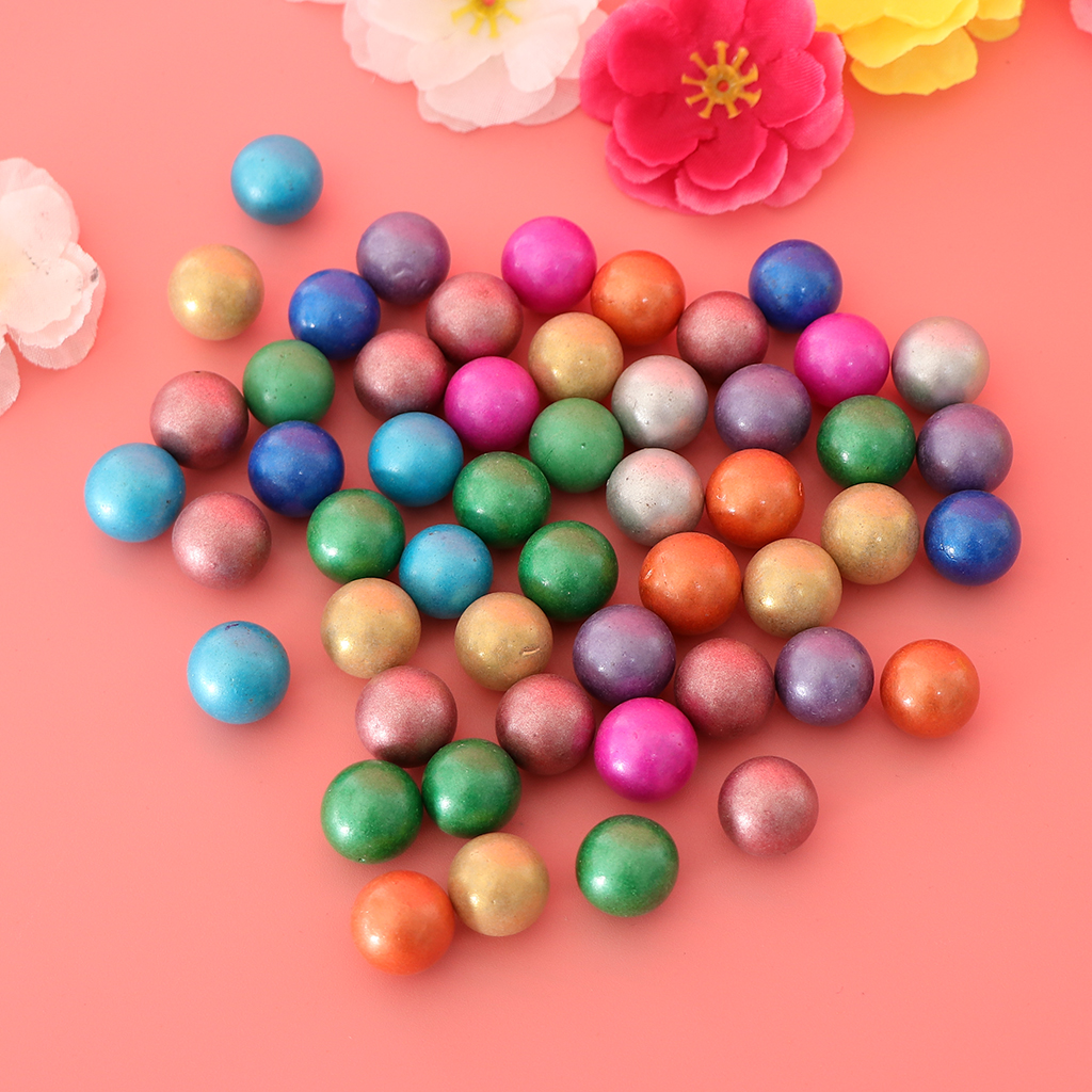 90PCS 16mm Colorful Glass Marbles, Kids Marble Run Game, Marble Solitaire Toy Accs Vase Filler & Fish Tank Home Decor #B