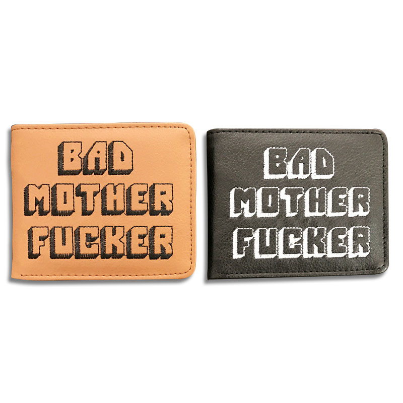 New Pulp Fiction Jules Wallet Small Coin Pocket Bad Mother Letters Wallet Card Holder pu leather short Purse Vintage Gift Purse
