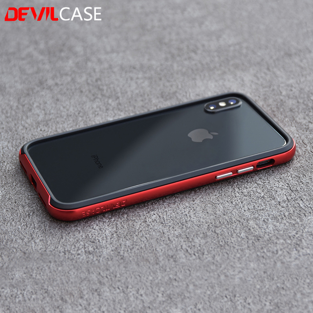 hot sale online bfae7 a3222 US $42.75 |DEVILCASE for iPhone X 10 XS New Zero Protective Bumper Frame  Casing Hybrid Color Cellphone Gadgets-in Phone Bumper from Cellphones & ...