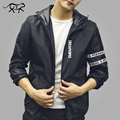 Nueva llegada de los hombres chaqueta de marca clothing moda para hombre primavera chaquetas slim fit jaqueta masculina fina ropa de abrigo con capucha masculina