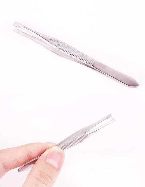 Eyebrow Tweezers Beauty Threading Clamp Pliers Brows Stainless Seyebrow Clip Defeatheringteel Forceps Facial Makeup Tools
