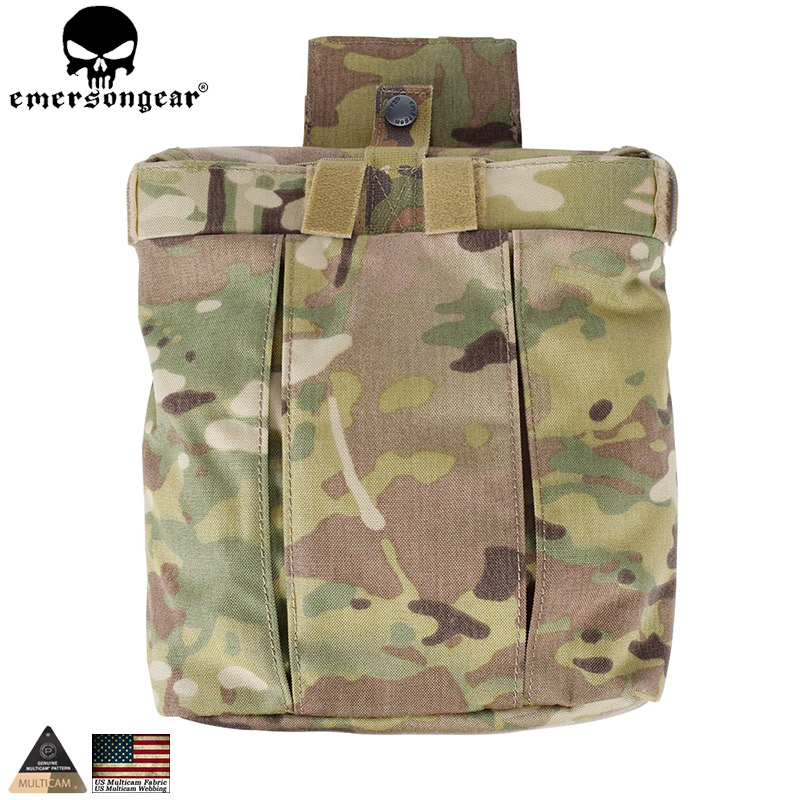EMERSONGEAR Drop Pouch Tactical Dump Pouch Molle Magazine Pouch Military Airsoft Army Tool Mag Drop Pouch Multicam EM9042 military molle ammo pouch tactical gun magazine dump drop reloader bag utility hunting rifle magazine pouch