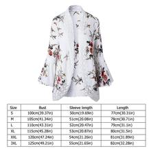 Lace Flare Sleeve Floral Print Cardigan