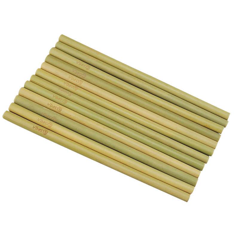 Cannucce Di Bamb.Naturale Di Bambu Cannucce Eco Friendly Sostenibile Di Bambu Cannucce Cannucce Riutilizzabili Con Paglia Cleaner Panno Di Lino Sacchetto To Go