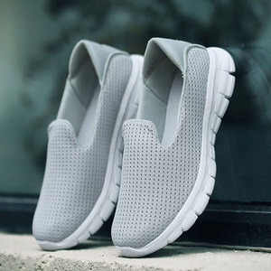 Image 1 - MWY Summer Women Sneakers Mesh Flats Shoes Comfortable Driving Shoes Basic Outwear Slip On Femail Casual Shoes tenis feminino