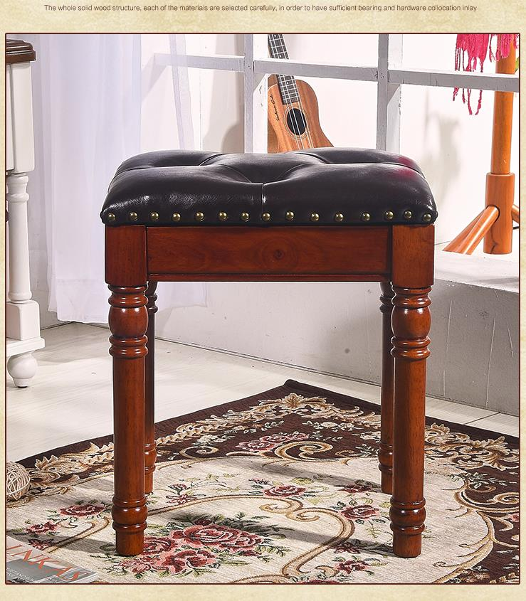 Terrific Luxury European 100 Wood Leather Makeup Stool Piano Stool Andrewgaddart Wooden Chair Designs For Living Room Andrewgaddartcom