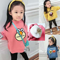 Children's clothing 2016 baby girl/boys plus velvet thickening 100% cotton kids winter child basic shirt cartoon sweatshirts