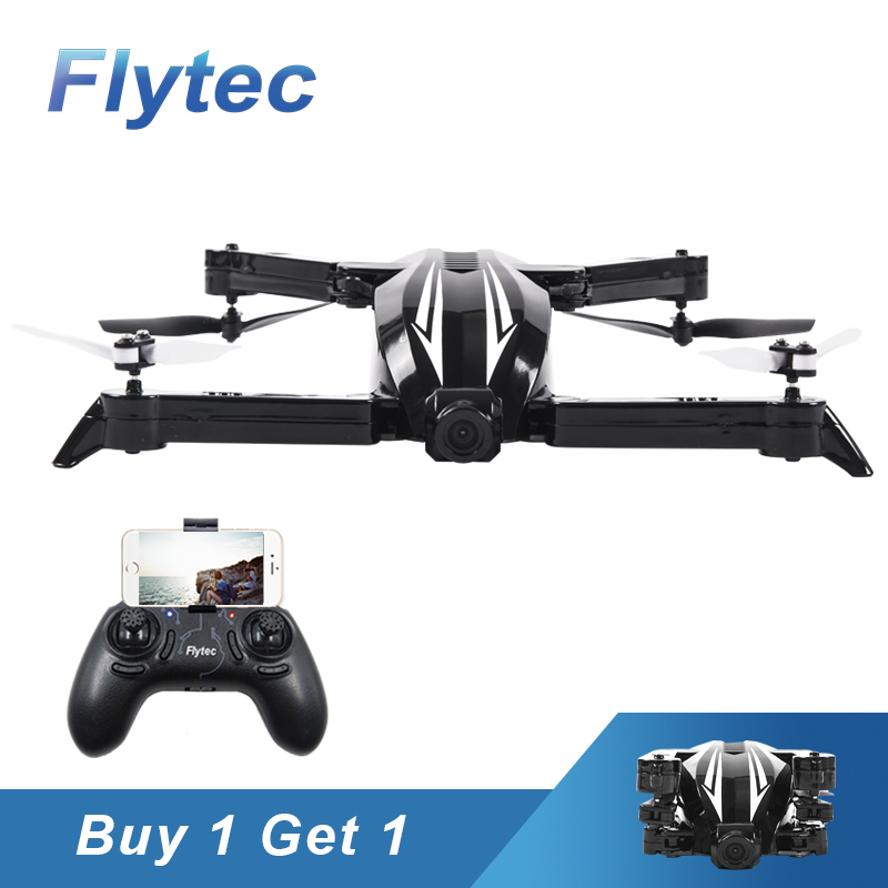 Buy One Get One Free Flytec T13S Mini Micro Foldable RC Drone Wifi FPV 720P Wide Angle Camera Height Hold Mode RC Quadcopter RTF flytec t18d rc quadcopter mini drone 4ch wifi fpv 720p hd camera rc drones height hold mode 6 axis ufo rtf drone with camera