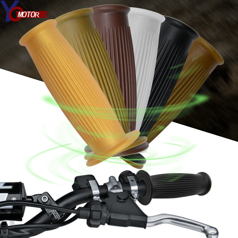6 Color 25/28mm Motorcycle Handle Grip Cafe Racer Motor Hand Grips Vintage Retro For Handlebar Grips Coke Bottle
