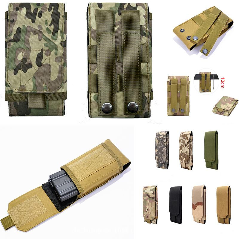 Tactical Phone Pouch Belt Hook Holster Waist Case For HOMTOM HT80 HT70 C2 S17 S99 S16 HT16 P30 Pro ZOJI Z11 Z9 S12 Z33 Z8 Z7 Z6 image