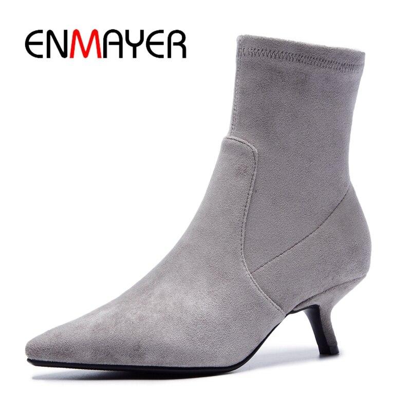 ENMAYER  Pointed Toe  Thin Heels  Boots Women  Winter Boots Women  Zapatos De Mujer  Botas Mujer Size34-39 ZYL1858ENMAYER  Pointed Toe  Thin Heels  Boots Women  Winter Boots Women  Zapatos De Mujer  Botas Mujer Size34-39 ZYL1858
