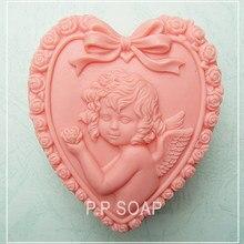 Форма в форме сердца для детского ангела, форма для мыла, помадка, форма для торта, форма для мыла, шоколада, для кухни, для выпечки