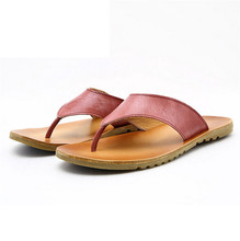 Men's casual leather slippers sandals flip tide of England SUB2103