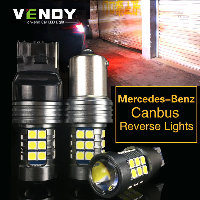 2x W16W 921 T15 Canbus Car LED Backup Light Auto Reverse Lamp Bulb For Mercedes Benz W211 W203 W204 W210 W205 W202 W220 W124 2pcs t15 led bulb for reverse backup light t15 w16w 912 921 led 2835 smd chip canbus error free tail light amber orange lighting